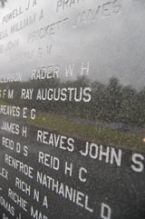 Names on the Memorial